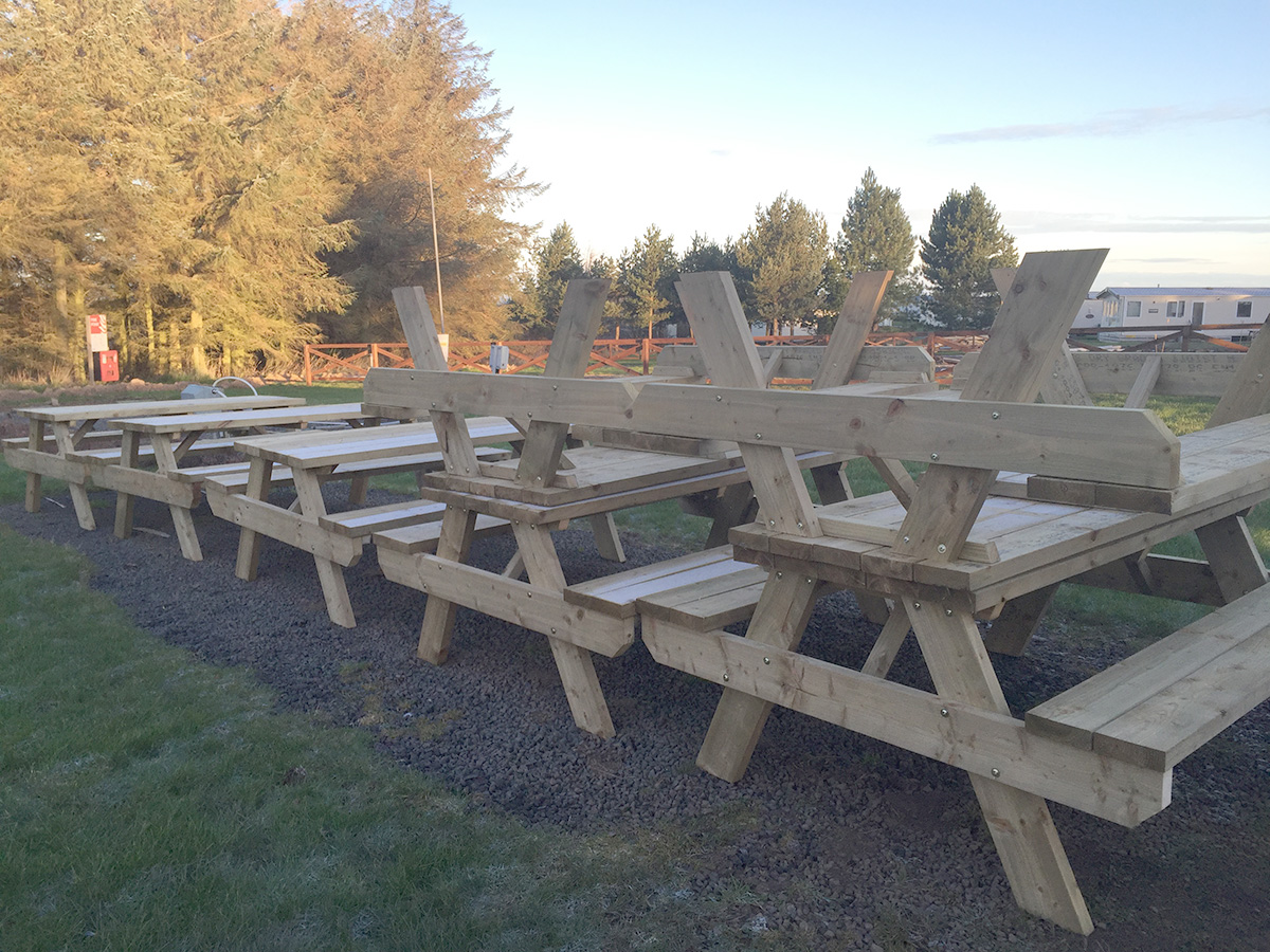 Drem Timber and Fencing are timber specialists based in East Lothian. Picnic Benches
